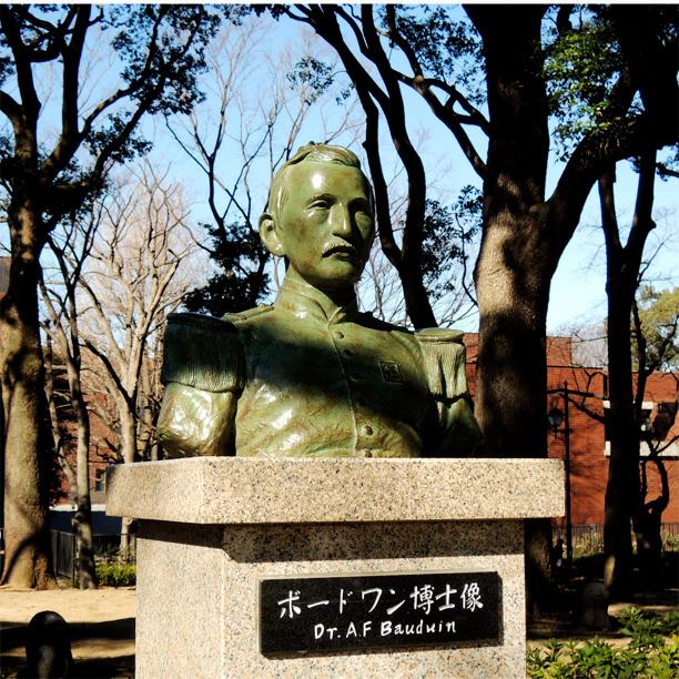 上野恩賜公園 ボードワン博士像